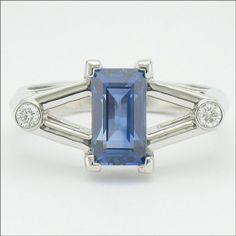 Incredible Blue Sapphire set in Platinum with Diamonds. For You Blue, Roof Design, Blue Sapphire, Custom Design, Cufflinks, Diamonds, Gems, Bling, Glitter