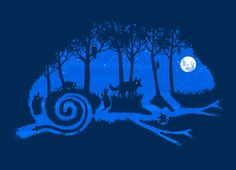"""The Midnight Forest"" - Threadless.com - Best t-shirts in the world"