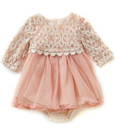 Bonnie Baby Baby Girls Months Lace Popover to Tulle Dress - shop dresses, dresses online, party maxi dresses with sleeves *ad Baby Girl Fashion, Fashion Kids, Fashion Clothes, Fashion Shirts, Dress Fashion, Fashion Outfits, Winter Fashion, Dress Clothes, Girl Clothing