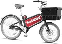 Republic Socrates Cargo Bike. They're made in Florida. You can design your own bike through Republic by selecting color frame, grips, tire, seat, sign, etc.