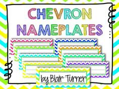 Chevron Nameplates FREEBIE! Too bad I just made these myself! :)