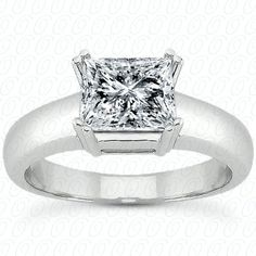 Round shank princess cut engagement ring available at Wheat Jewelers