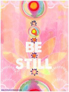 Be Still Lotus Art Print by stephanieryanart on Etsy