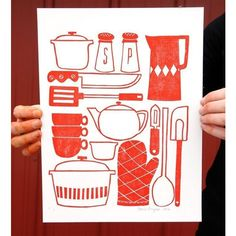 Kitchen Utensil print by oneCanoetwo