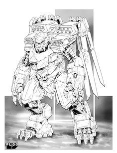 Comm: Assault jumper by mattPLOG on DeviantArt Cyberpunk, Character Concept, Character Art, Mecha Suit, Fighting Robots, Sci Fi Armor, Gundam Art, Robot Concept Art, Mecha Anime