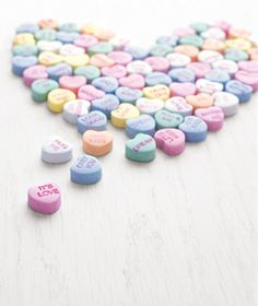 You can personalize your candy hearts