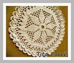 Toalhinha em crochet Estrela
