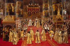 Alexander III and Maria Fedorovna's coronation by G.Becker (1888, Hermitage) - Alexander III of Russia - Wikipedia, the free encyclopedia
