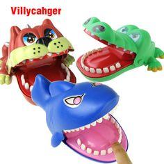Grandes Bulldog Cocodrilo Boca de Tiburón Mordedura Del Dentista de Dedo Juego Divertido Gag Novedad de Juguete para Los Niños Los Niños Juegan Divertido