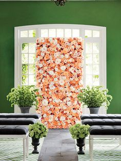 How to Throw a Garden-Themed Wedding Without the Outdoor Venue. Urns from JamaliGarden.com.
