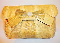 #Vintage snakeskin purse with strap $110