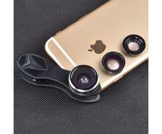 3 az 1-ben Apexel optika telefonra - 15x makro, 0.63x széles látószög és 198 fokos halszem lencse - remek telefonos ajándék ötlet