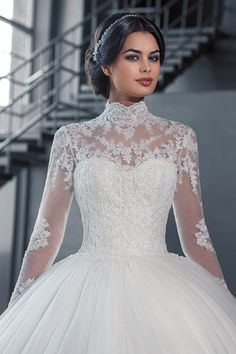 Vestidos De Casamento 2016 High Neck Simple Long Wedding Dresses with Appliques Long Sleeves Muslim Arabic Bridal Gowns MWD25(China (Mainland))