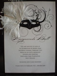 Mardi Gras Mask by Elegantlystated on Etsy,invitation