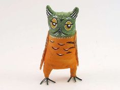 Indifferent Imogen Vintage Inspired Spun Cotton Owl Figure OOAK (READY To SHIP!) by VintagebyCrystal on Etsy