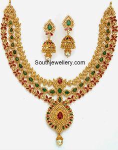 uncut diamond necklace Indian Jewellery Design, Indian Jewelry, Jewelry Design, Vintage Jewellery, Antique Jewelry, Antique Gold, Ruby Jewelry, Bridal Jewelry, Gold Jewelry
