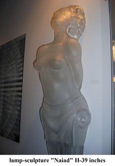 """glass lamp - sculpture """"Naiad"""""""