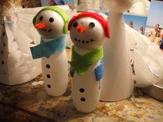 bottle snowmen for christmas