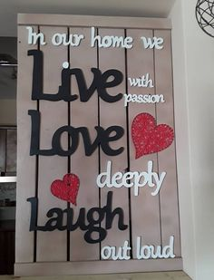 Wooden Arts And Crafts Love Deeply, Wooden Art, Arts And Crafts, Home Decor, Wood Art, Decoration Home, Room Decor, Art And Craft, Home Interior Design