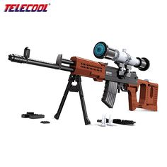36.07$  Watch more here - http://aia88.worlditems.win/all/product.php?id=32797132569 - SVD Sniper Rifle Scale Model Building Toy For Boy Military Weapon Simulation Gun Assemblage Blocks Compatible with lego 712 PCS
