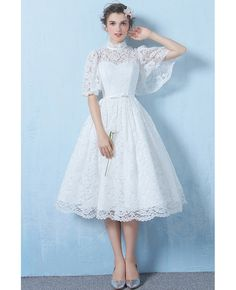 Prom Dress Party Special Occasion Dresses Formal Evening Dress White Lace Long Evening Dresses Evening Gowns for Women Prom Party Dresses, Homecoming Dresses, Evening Dresses, Dress Party, Summer Dresses, Tea Length Wedding Dress, Wedding Dress Styles, Wedding Outfits, Robes D'occasion