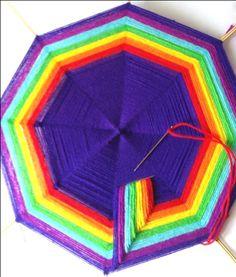 10 God's Eye Craft, Mandela Art, Dorset Buttons, Gods Eye, Catus, Weaving Patterns, Loom Weaving, Native Art, Bottle Art