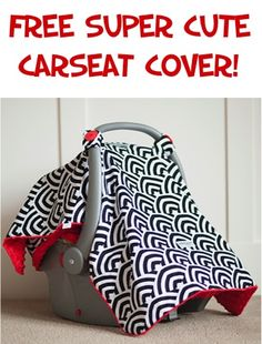FREE Super Cute Carseat Cover! {just pay s/h} ~ these car seat canopies may great Baby Shower gifts, too! #babies #carseatcanopy #thefrugalgirls