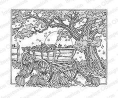 Impression Obsession - Cling - Pumpkin Cart