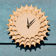 Layered Gear Clock by sayhelloshop on Etsy, $18.00