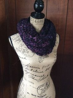 Hand Knitted Infinity Scarf Shawl Circle Scarf by WendysWonders127