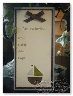 Stampin Up Invite idea
