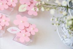 pink flower decorations