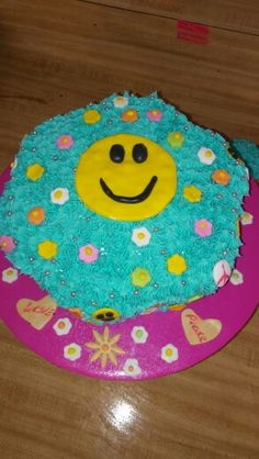 Happy face cake