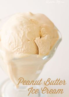 The BEST Peanut Butter Ice cream recipe you'll ever have! it's creamy with a wonderful peanut butter flavor.  I love it alone, with chocolate brownies or with peanut butter cookies!  Mmmm Maybe all three?