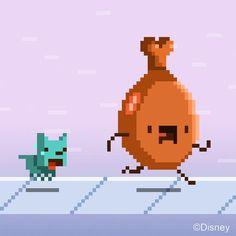 Disney Parks pixel art meat chasing let me love you GIF Love You Gif, Pixel Characters, Pixel Animation, Gif Collection, 8 Bit, Motion Design, Disney Parks, Game Design, Pixel Art