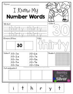 Numbers 10-100 practice! Printables and center activities