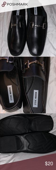 Steve Madden Loafers Never wore. Black leather Steve Madden Shoes Loafers & Slip-Ons