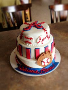 STL Cardinals Instead Of Atlanta Braves Baby Shower Cake Friends Birthday
