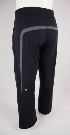 LULULEMON Mens Black & Gray Sweat Pants Sz M #Lululemon #Pants
