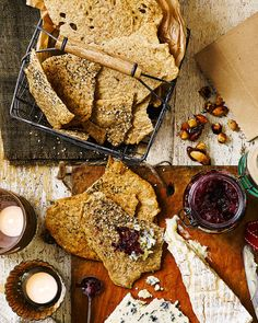 Whether dunking in hummus or using for cheese, this rye cracker recipe is so quick and simple you'll be whipping up a batch whenever you fancy.