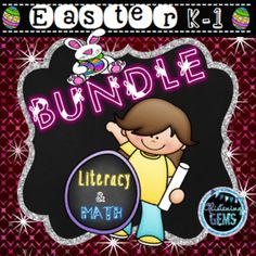 Easter Bundle Pack - Literacy and Math K-1 - 6 fun filled Easter products combined into one bundle! This kit will save you over 25% off. It includes a variety of activities to assist students to consolidate their understanding of time, numbers to twenty and sight words. It also consists of fun roll a die writing activities and task cards to cater for a variety of learning styles.
