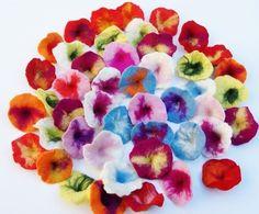 Felt petunias by Mafiz (for jewellery making, craft projects etc) beads-and-jewellery-supplies beauty beauty beauty