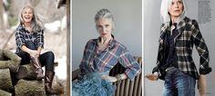 Workwear feminino [inspirado no masculino] #aged #maturidade #estilofeminino #40anos #50anos #60anos #70anos #cabelobranco #xadress #plaid