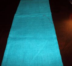 TABLE RUNNER  - Shalimar Burlap Turquoise. $15.00, via Etsy.