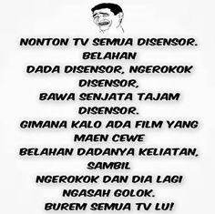 Nonton TV semua disensor - #Meme - http://www.indomeme.com/meme/nonton-tv-semua-disensor/