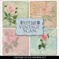 Freebies Vintage Style Papers