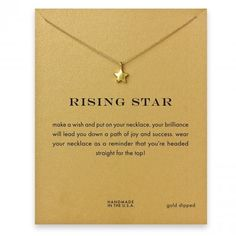Cute Wishful Lucky Stat Necklace with Card Brand New necklace with special meaning card included! Jewelry Necklaces