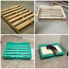 40 of the Most Incredible Ideas & DIY you need to try! DIY PALLET DOG BEDwhat a great idea & looks so easy to make! Featured on our BEST Pallet ideas! The post 40 of the Most Incredible Ideas & DIY you need to try! appeared first on Wood Diy. Pallet Crafts, Diy Pallet Projects, Diy Crafts, Pallet Diy Easy, Pallet Dog Beds, Pallet Dog House, Dog Bed From Pallets, Pallett Bed, Palette Diy