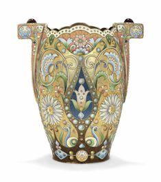 Antiques Asian Antiques Candid Vasi In Cloisonnè