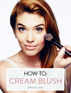 A step-by-step #tutorial to applying cream blush like a pro, courtesy of celebrity #makeup artist Lauren Andersen.